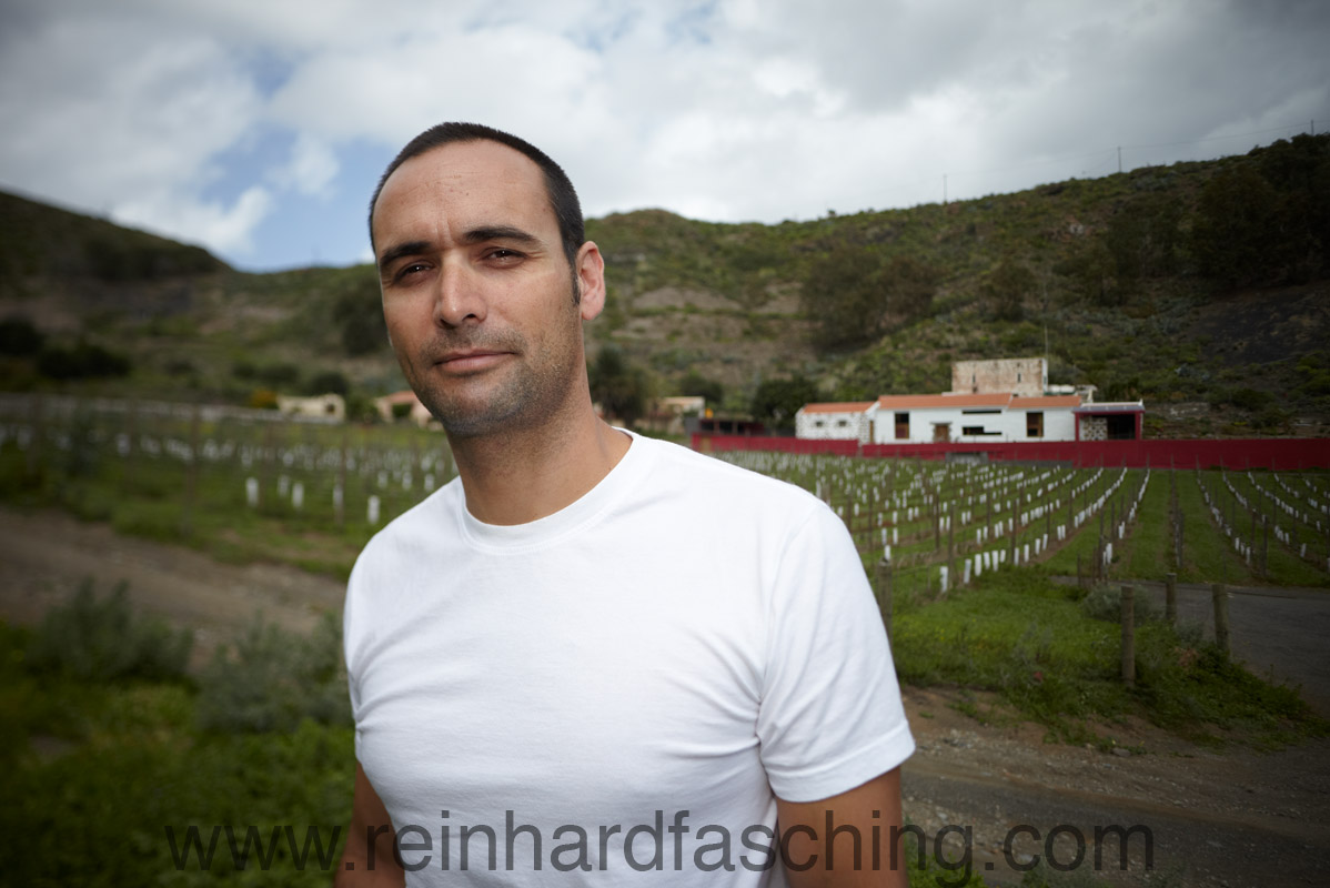 Unai, owner of Finca La Salud, Portrait by Reinhard Fasching