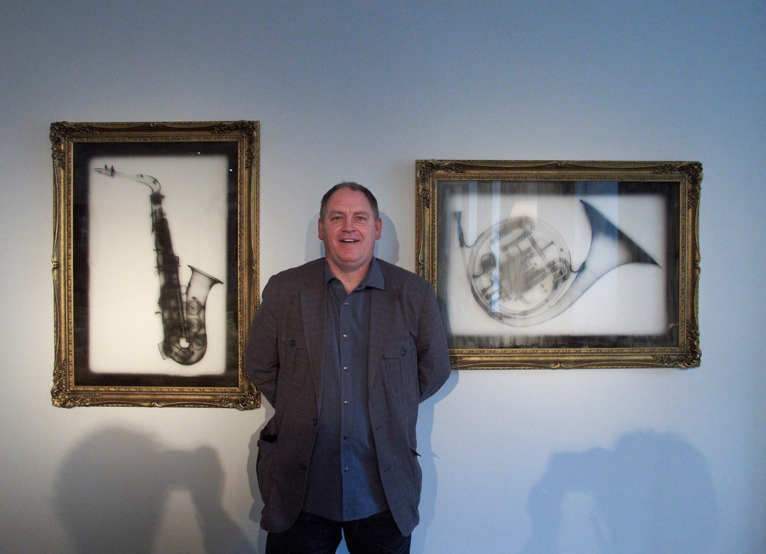 Nick Veasey with x-rated music instruments