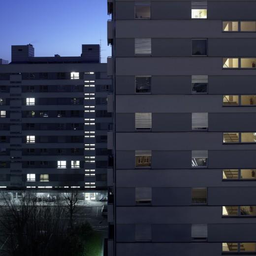 Bregenz bei Nacht, Fotografie Reinhard Fasching