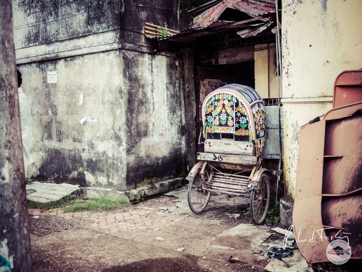 Typical street scenery Chittagong city, Bangladesh